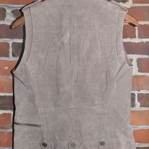 Blank NYC Jackets & Coats - NWT BLANK NYC Beige Suede Biker Chic VEST Small